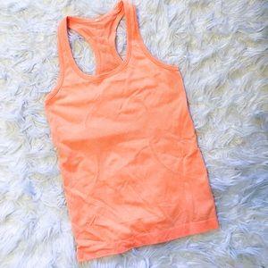 Lululemon Swift Tech Orange Workout Tank Top